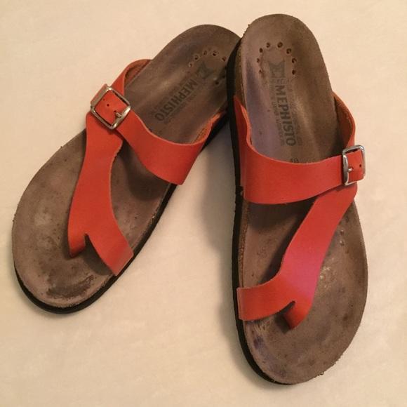 79601434e5 Mephisto Shoes | Helen Tangerine Sandals Sz 40 | Poshmark